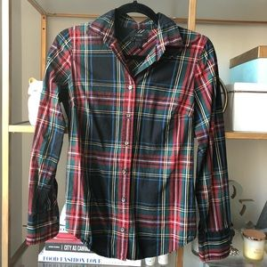 J. Crew perfect shirt in plaid